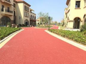 彩色压花地坪施工方案透水混凝土材料