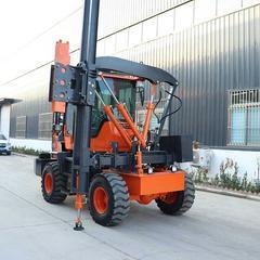 护栏打桩机高速公路波形打桩机钻孔打拔一体装载式建筑工程打桩机