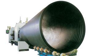 HDPE大口径中空壁缠绕管挤出生产线