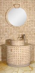 西米红格子浴柜ZJ-8006A