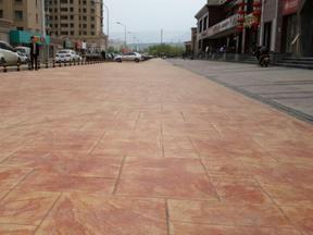 贵阳艺术彩色压模地坪材料销售