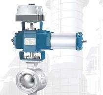 ZSSV气动V型活塞式调节球阀气体蒸汽输送