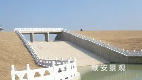 河道栏杆、泵站水库混凝土栏杆 仿石护栏