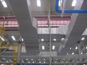 烟草制药厂房双面彩钢复合成品风管