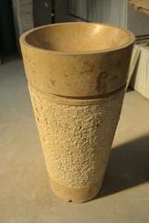 马矿洞石圆形一体盆QD-VANITY 2012020