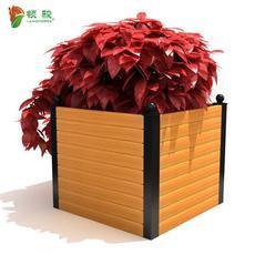 木塑花箱 公园广场道路隔离树围 福建塑木花槽花池树盆树围