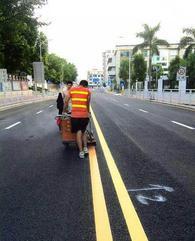广州顺德南海禅城厂区车位道路划画线