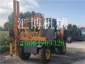 首选农村公路防护栏打桩机 HB-30小型护栏打桩机厂家直销