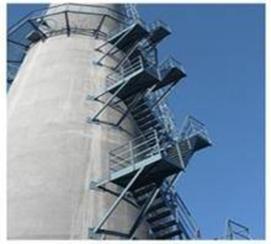烟囱钢梯安装