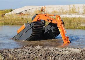 水上挖掘机维修 水上两用挖掘机出租,水陆挖掘机出租优惠价