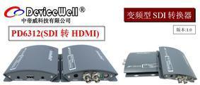 中帝威高清SDI转HDMI变频转换器-带立体声输入输出及SDI环出