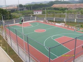 天津塑胶篮球场铺装-天津塑胶网球场铺装施工建设
