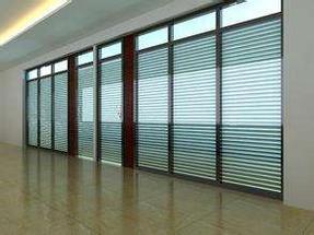 双玻璃隔墙装饰
