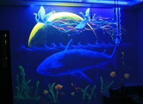 酒吧歌厅ktv幻彩之漆华仕紫光隐形颜料