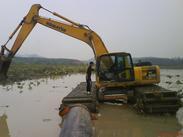 履带式水陆挖掘机,小型水挖机出售、租赁18573609999