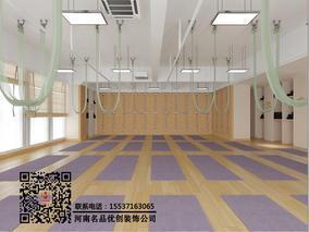 河南高端瑜伽会所装修设计案例,河南郑州高端瑜伽馆装修公司