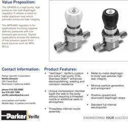 派克parker压力调节器qr4000/npr4000系列