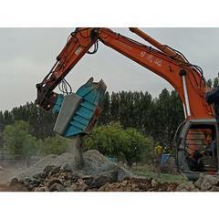 液压单轴鄂式破碎斗青石混凝土鹅卵石粉碎斗适用于各种建筑材料