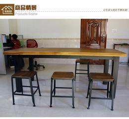铁艺实木桌椅