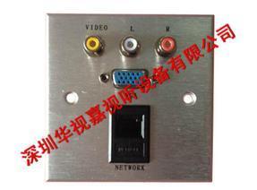 墙面多功能插座 带网口2兆BNC接口