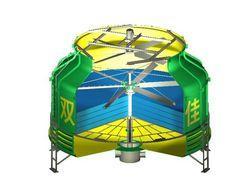 圆形玻璃钢逆流冷却塔
