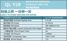 凯强力QL-Y28挖改液压凿岩机