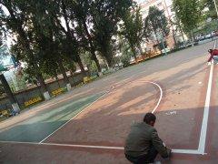 硅pu篮球场做法