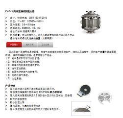管道阻火器计算压降通气量曲线(ZHQ-S型)