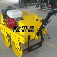 600型汽油动力双钢轮压路机 9马力汽油手扶式双轮压路机