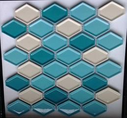 陶瓷菱形凹凸面马赛克 蛋挞砖 背景墙砖