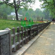 仿木栏杆,仿木栅栏,隔离护栏,绿化护栏,草坪护栏