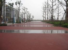 苏州厂家直销生态透水混凝土压花地坪景观建筑材料施工