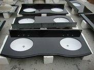 黑色花岗岩浴室台面双槽QD-VANITY 2008002-1