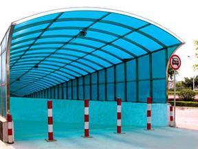 安徽车棚雨棚阳光板6mm
