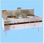 山西太原厨房设备商用厨具煤气灶双炒单温燃气灶具