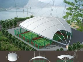 济南网球场膜结构,济南看台膜结构,济南膜结构