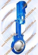 铸钢电液动刀形闸阀