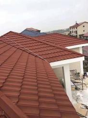 彩石金属瓦厂家钢结构屋面瓦平改坡镀铝锌瓦圆弧型七波瓦