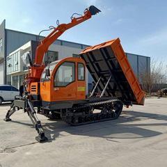 供应小型农用挖掘机 履带随车挖运输车