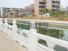 仿石,仿汉白玉栏杆,水利工程,河道整治