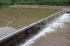 天元装备气盾坝坝型对比比较 橡胶坝改造气盾钢坝厂家价格