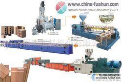 青岛福顺塑料机械供应 木塑板材生产线