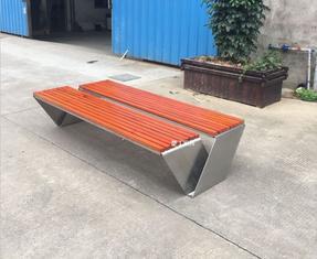 广场不锈钢成品坐凳、室外休闲双排椅