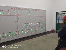 马赛克电力模拟屏模拟图板