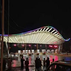 膜结构收费站遮阳棚设计交通设施膜结构工程安装