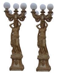 洞石人物雕像灯笼GGQ058