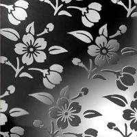 黑色花纹板,黑色蚀刻压花板,金黄色拉丝板,