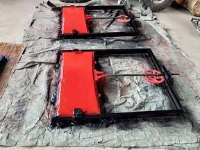 湖南閘門|單向雙止水平面鑄鐵閘門生產廠家