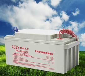 上海鸿贝蓄电池厂家生产12V65AH太阳能蓄电池,免维护蓄电池