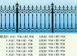 天津浩达盛铸造厂 供应铸铁围墙,铁艺栏杆,铁艺护栏